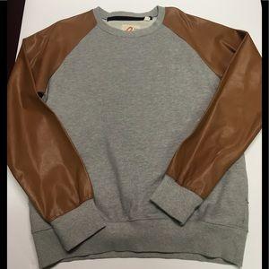 Gray rolling papers crewneck sweatshirt